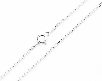 """Sterling Silver Chain, Necklace Chain, Link Chain, Anchor Chain, Pendant Chain, Women's Chain, Jewellery Chain, Replacement Chain, 18"""" Chain"""