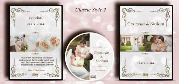 DVD/CD case. Custom printed Classic Wedding DVD label and