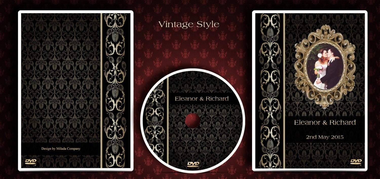 DVD/CD case. Custom made wedding Dvd/Cd box and printed disc.