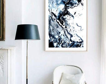 Haze I Print (Paint, Acrylic, Abstract, Fluid Painting, Wall Art, Home Decor, Unframed or Framed print)