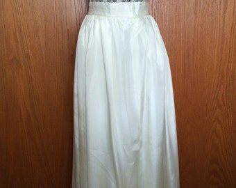 60s Ivory High Waisted Ballgown Skirt - Wedding, Party, Glam, Chic, Timeless