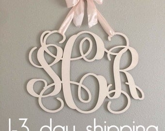 Wooden Monogram - Nursery Monogram - Baby Room Decoration - Over crib Monogram - Wooden Vine Monogram