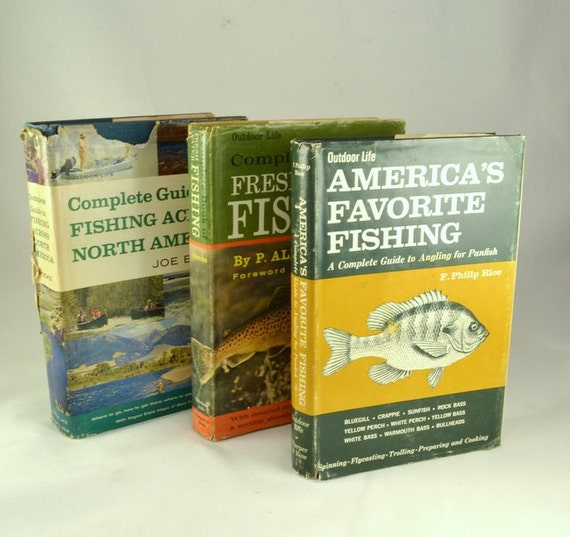 Outdoor Man Cave Gifts : Vintage outdoor life fishing books hardcover w