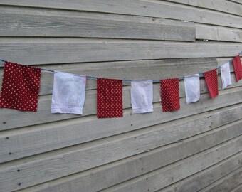 Valentines Day Decor, Love Banner, Prayer Flags, Gypsy Decor, Hippie Bunting, Festival Flag, Gypsy Bunting, Boho Flag, Wedding, Upcycled