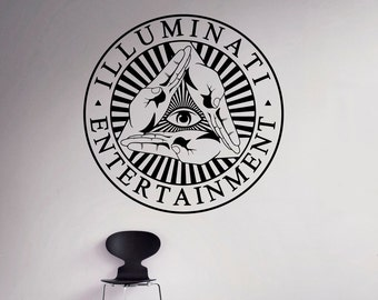 Illuminati Sigh Wall Vinyl Decal All Seeing Eye Sticker Decor Living Room Wall Murals Housewares 1(isn)