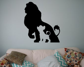 lion king wall decal etsy. Black Bedroom Furniture Sets. Home Design Ideas