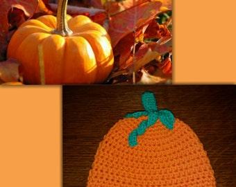 Crocheted Baby Pumpkin Hat