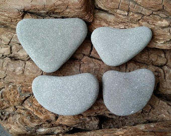 4 Natural Stone Hearts,Stone for Writing On, Beach Pebble Heart, Ontario Lake Stones Heart Shaped, Large Natural Stone Hearts ~ st60