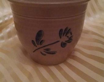 "Pfaltzgraff 4-1/2"" Plant Pot, Flower Pot, Planter, Blue Design"