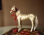 Needle felting horse figurine, felted horse sculpture, Akhal-Teke silk coat, Equestrian art, horse decor, collectable horse, OOAK art