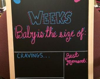 Weekly pregnancy Chalkboard / weeks pregnancy stats / pregnancy Chalkboard / weekly chalkboard / maternity / pregnancy announcement