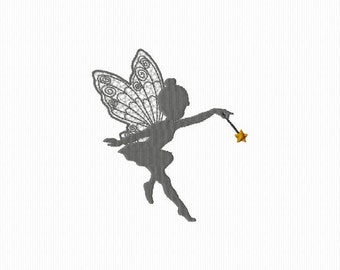 Embroidery machine embroidery of a fairy 4 x 4 format