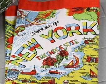 New York Towel | New York Kitchen Towel | New York Tea Towel | New York Flour Sack Towel | Vintage New York Towel | State Towel