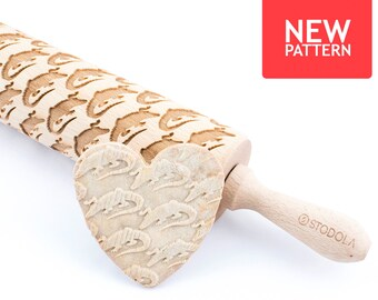 Alligator - Embossed, engraved rolling pin for cookies