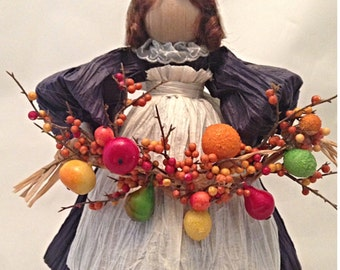 Fall Thanksgiving Harvest Doll Figurine