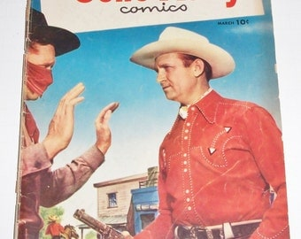 Gene Autry Dell Comic Book March 1952  #61