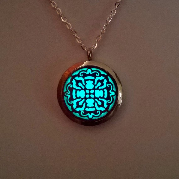 Glowing Necklace Jewelry Valentines Gift by BespokeInnaDesign