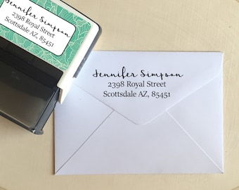 Personalized Stamp, Address Stamp, Self Address Inking Stamp, Monogram Return Address Stamp, Personalized Stamper