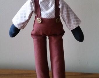 Handmade Boy Americana Folk Doll