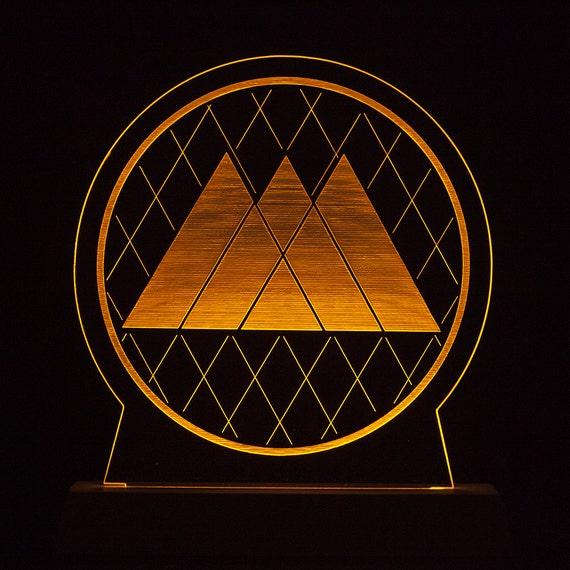 destiny warlock logo lamp lighted acrylic by interstait on