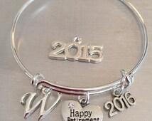 Happy Retirement-bangle bracelet