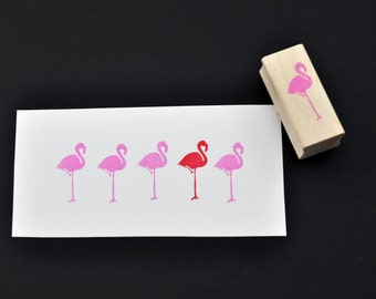 Flamingo Rubber Stamp, Hand Carved Stamp