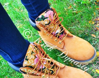 white and gold timberlands for sale