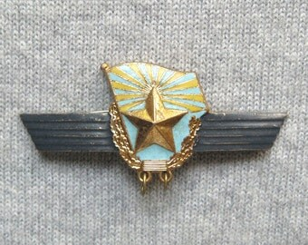 Extended Service Badge, Military Badge, Soviet Pins, Military Pin