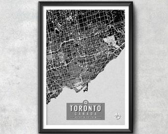TORONTO Map with Coordinates, Toronto Map, Toronto Wall Art, Map Art, Map Print, Toronto Print, Toronto Art, Toronto, Toronto Decor, Toronto