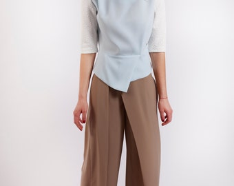Harem Pants, Wide Leg Pants, Womens Pants, Womens Trousers, High Waisted Pants, Beige Pants, Casual Pants, Loose Pants, Pleated Pants