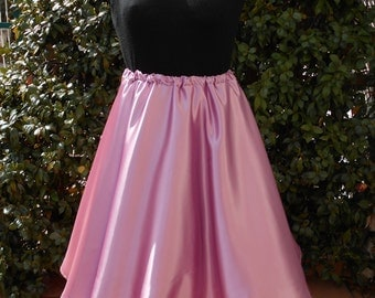 Petticoat in tulle and light satin dusty rose