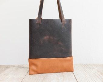 HAEUTE Leather Shopper,Tote Bag, Leather bag, Shoulder bag,