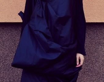 New! Asymmetrical vest / Windproof Vest / Black Vest / Extravagant vest