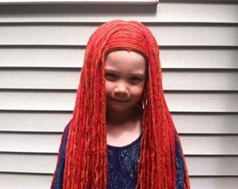 Merida Wig, Brave costume, Ragdoll wig, Merida Hair, Merida costume, Ragdoll costume, Brave hair, Dress up hair, Dress up wigs, Kids wigs