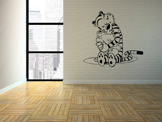 Calvin hobbes the hug interior wall art vinyl by for Calvin and hobbes nursery mural