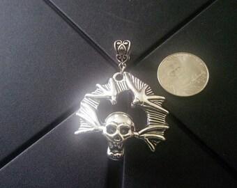 Skull Charm Fits European Style Bracelets Like Chamilia ,Biagi ,Caprice ,Hallmark, Pandora