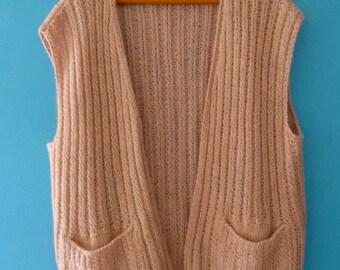 Waistcoat made wool hand - pink