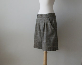 Long tailored check shorts by JJ Fargo/ vintage medium
