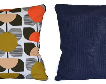 Cushions made using Orla Kiely Square Flower fabric, various designs