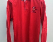 Knock Down Price! Polo by Ralph Lauren Rugby shirt, PRLC Established 1967 logo at left chest, number 8 at back, XL(20) size for youth