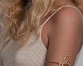 Upper arm bracelet G-Clef Bracelet Upper Arm cuff  , Music Jewelry, Treble Clef Bracelet, everyday jewelry,adjustable