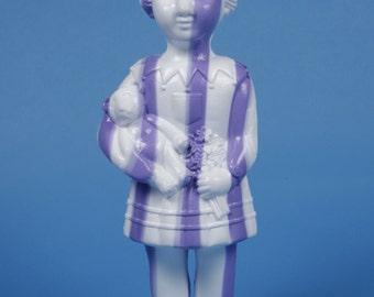 Large White & Purple Stripey Clonette Doll