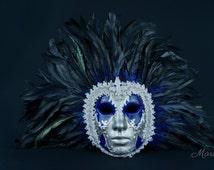 Masquerade Mask Men, Male Venetian Mask , Male Masquerade Ball Mask, Full Face Mask, Volto Mask, Male Mask Mardi Gras,Wedding Mask,Hora Loca