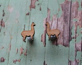 Tiny Llama Earrings/Studs. Alpaca Earrings. Llama Love. Tiny animal earrings/studs. Laser Cut Llama studs/earrings