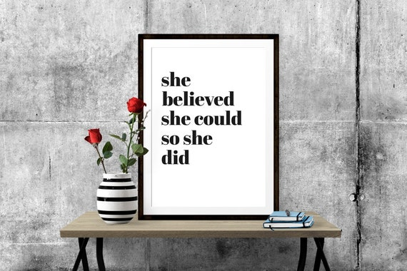 She Believed She Could So She Did Art Print By