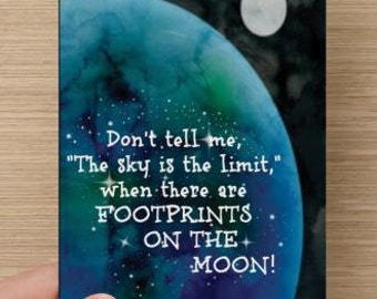 Don't Tell Me The Sky Is The Limit~positivity greeting card, Graduate,  encourage!  self-esteem quote, direct sellers team