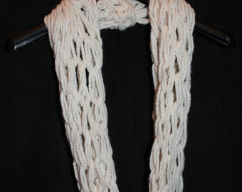 Cream Cowl Scarf
