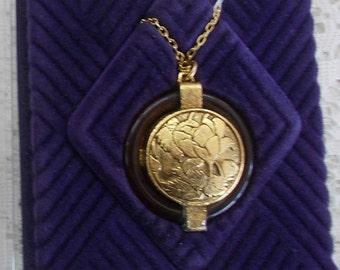 Vintage Max Factor Hypnotique Crème Solid Perfume Locket with Chain Unused in Original Box