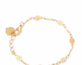 Delicate Golden Ethnic Bracelet, Gold Bracelet, Wedding Jewelry, Layered Bracelet, Dainty Bracelet, Layering, Gold Plated Bracelet