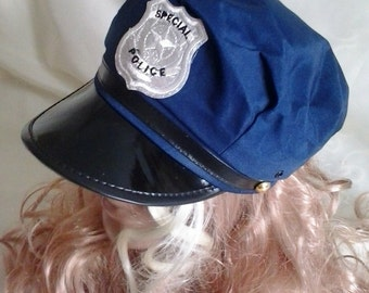 Cap of police: blue or black